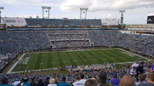 TIAA Bank Field, section: 438, row: N, seat: 11