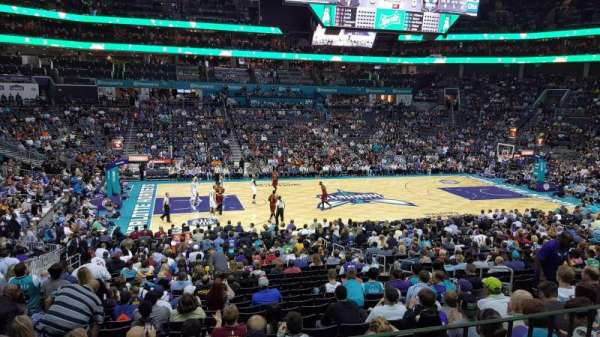 Spectrum Center, section: 106, row: Club Level