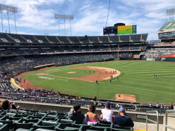 Oakland Coliseum, section: 208, row: 9, seat: 1