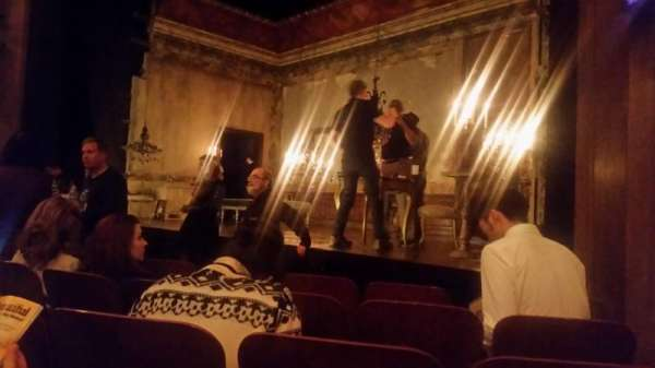 Booth Theatre, section: Orchestra R, row: D, seat: 12