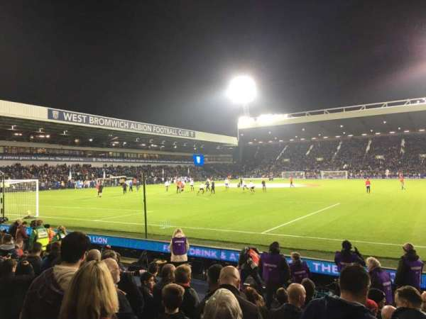 The Hawthorns, section: A6, row: 6