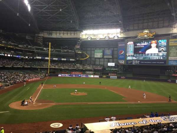 Miller Park, section: 215, row: 1, seat: 11