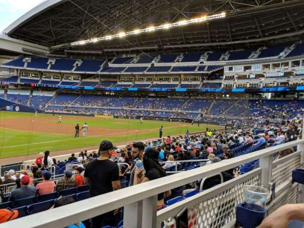 Marlins Park, section: 24, row: 1, seat: 7