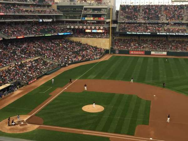 Target Field, section: 209, row: 1, seat: 7