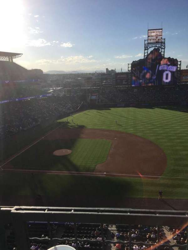 Coors Field, section: L321, row: 1, seat: 18