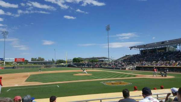 HoHoKam Stadium, section: 112, row: 6, seat: 1