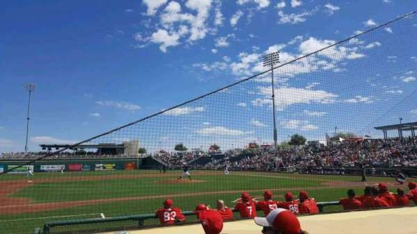 Goodyear Ballpark, section: 107, row: G, seat: 6