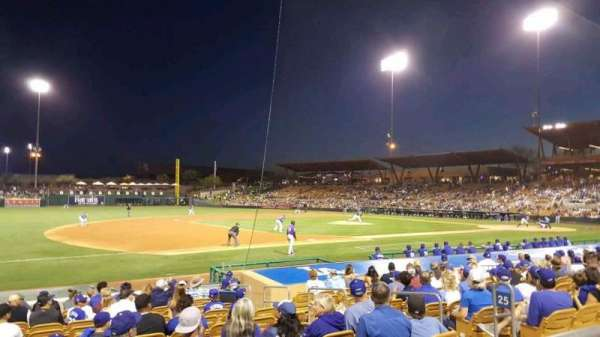 Camelback Ranch, section: 125, row: 1, seat: 7