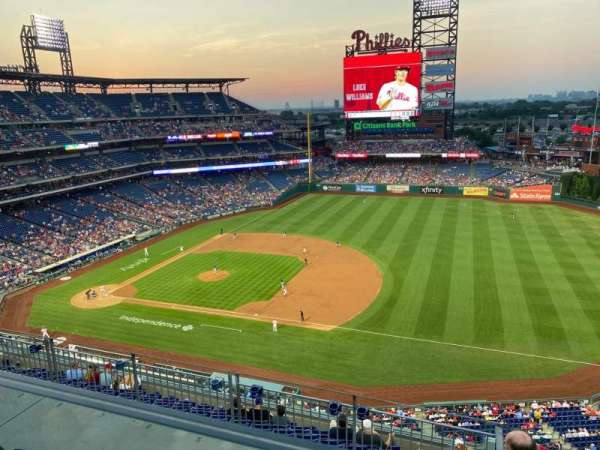 Citizens Bank Park, section: 413, row: 1, seat: 1