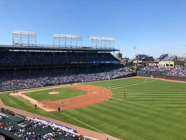 Wrigley Field, section: 330R, row: 1, seat: 6