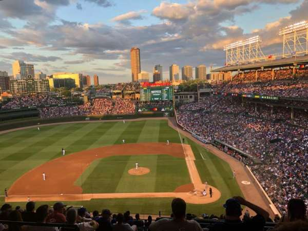 Wrigley Field, section: 413L, row: 2, seat: 9