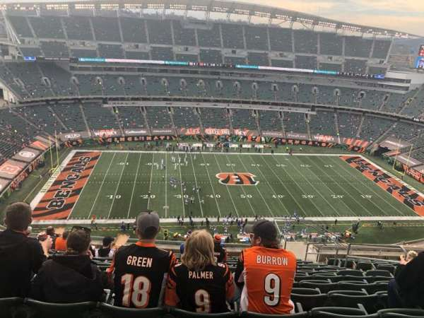 Paul Brown Stadium, section: 342, row: 25, seat: 6