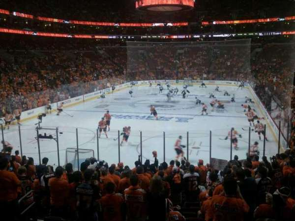 Wells Fargo Center, section: 120, row: 18