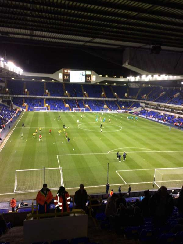White Hart Lane, section: 55, row: 17, seat: 214