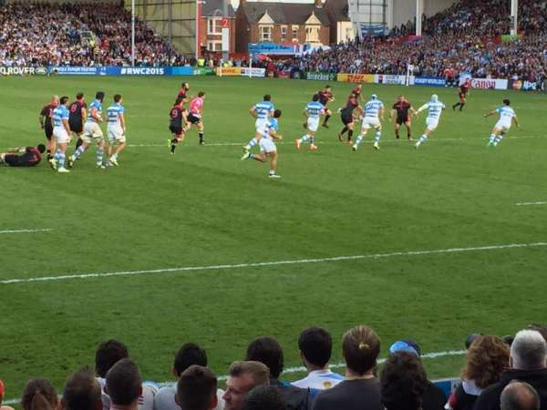 Kingsholm Stadium, section: West Stand, row: Stand, seat: Stand