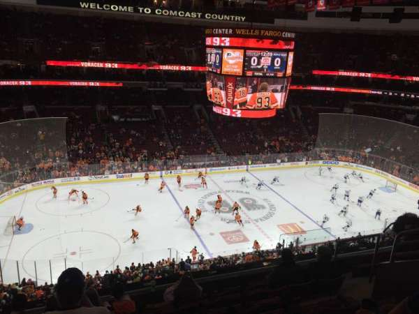 Wells Fargo Center, section: 223, row: 8, seat: 10