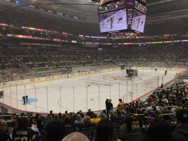 PPG Paints Arena, section: 105, row: Q, seat: 10