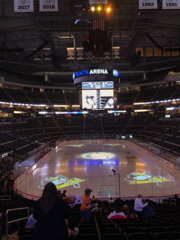 PPG Paints Arena, section: 118, row: Z, seat: 11