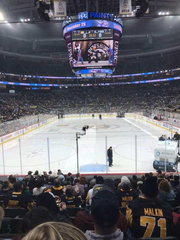 PPG Paints Arena, section: 107, row: P, seat: 7