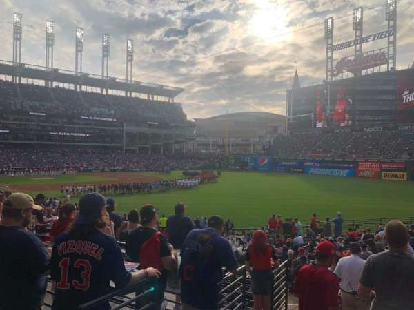Progressive Field, section: Standing Room Only