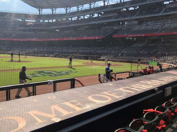 Truist Park, section: 33, row: 8, seat: 1
