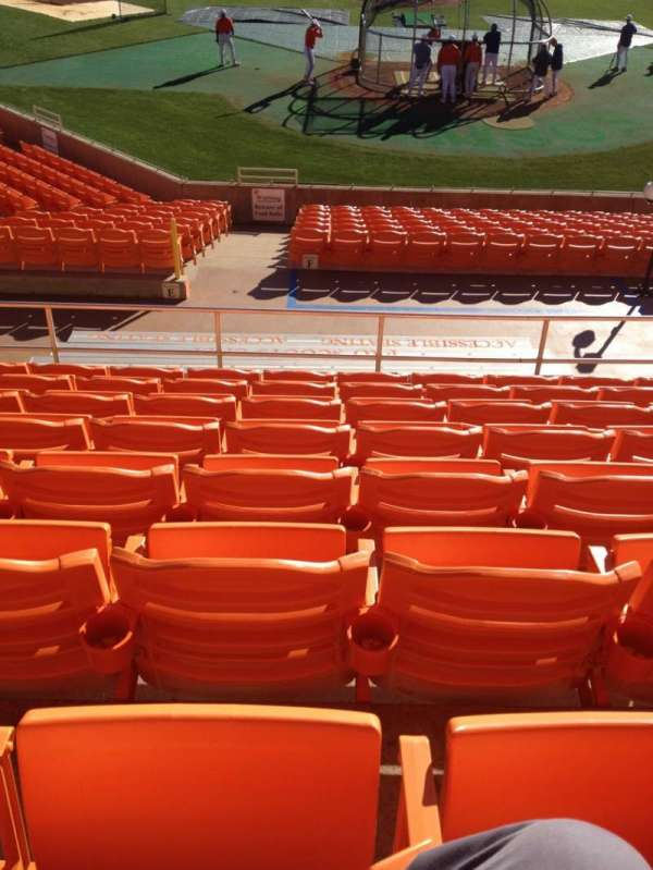 Doug Kingsmore Stadium, section: UF, row: H, seat: 16,17,18,19