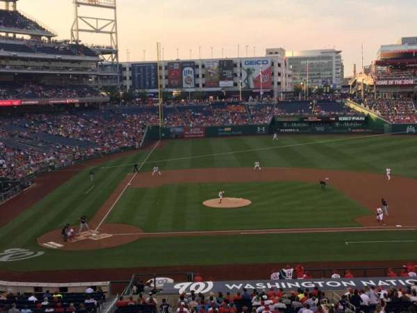 Nationals Park, section: 218, row: A, seat: 15