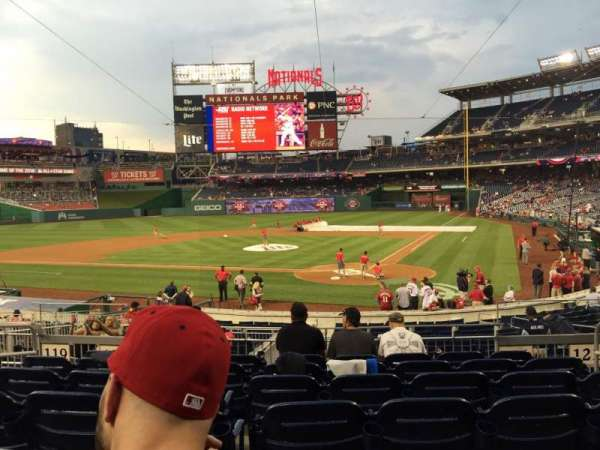 Nationals Park, section: 124, row: D, seat: 5