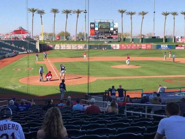 Goodyear Ballpark, section: 114, row: X, seat: 7