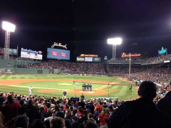 Fenway Park, section: Loge Box 134, row: KK, seat: 6