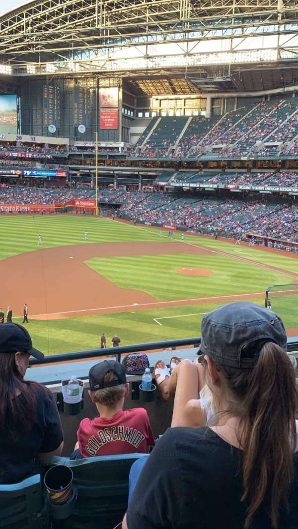 Chase Field, section: 214, row: 3, seat: 4