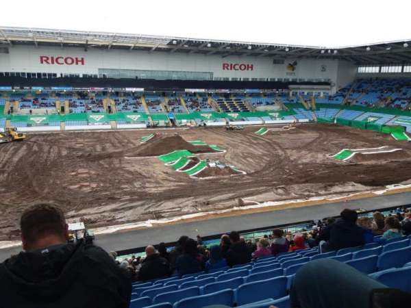 Ricoh Arena, section: 18, row: RR, seat: 20