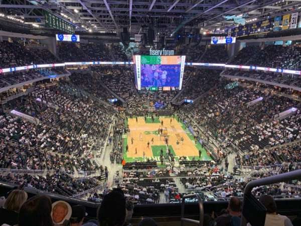 Fiserv Forum, section: 202, row: 5, seat: 1