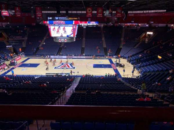 McKale Center, section: 115a, row: 33, seat: 21