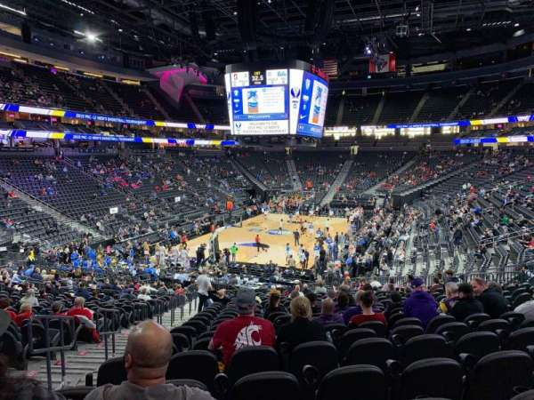 T-Mobile Arena, section: 2, row: W, seat: 3