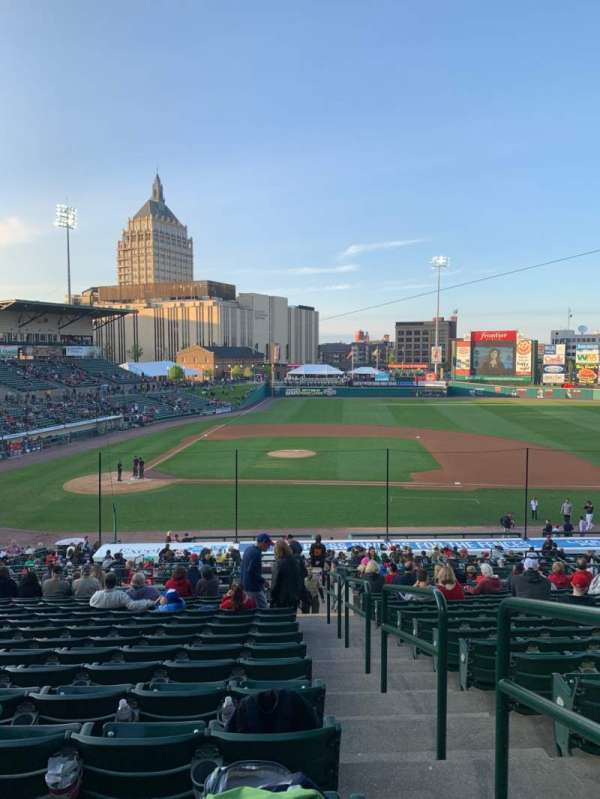 Frontier Field, section: 208, row: R, seat: 12