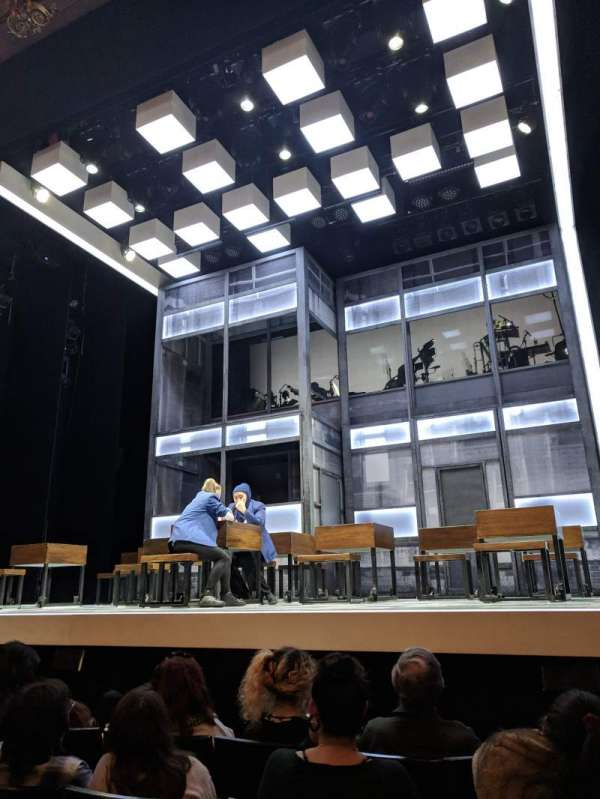 Apollo Theatre, section: Stalls, row: E, seat: 5