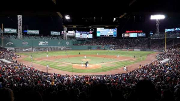 Fenway Park, section: Grandstand 21, row: 11, seat: 12