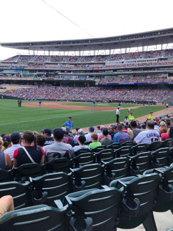 Target Field, section: 125, row: 12, seat: 10