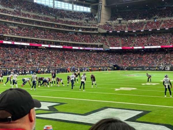 NRG Stadium, section: 135, row: B, seat: 3