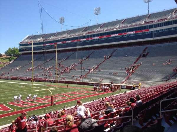 Razorback Stadium, section: 125, row: 22, seat: 10