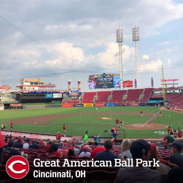 Great American Ball Park, section: 120, row: EE, seat: 8