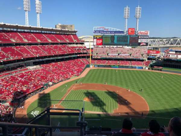 Great American Ball Park, section: 530, row: F, seat: 20
