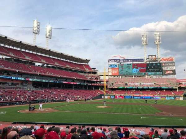 Great American Ball Park, section: 129, row: S, seat: 3