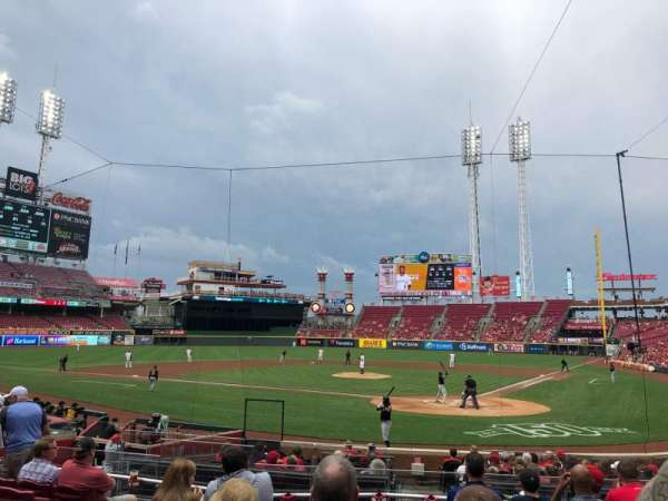 Great American Ball Park, section: 121, row: T, seat: 9