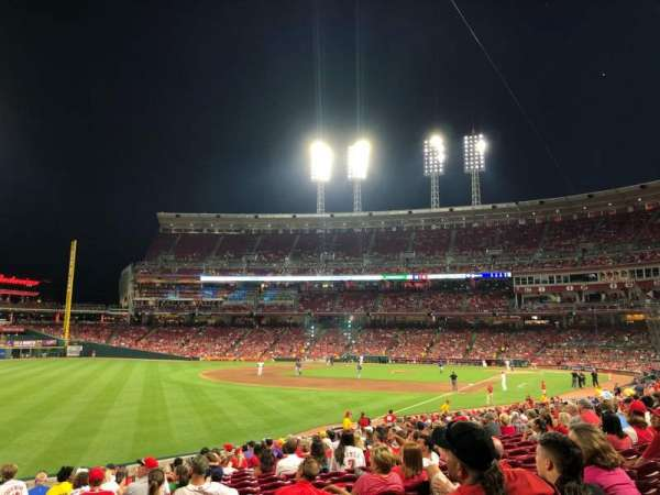 Great American Ball Park, section: 110, row: EE, seat: 12