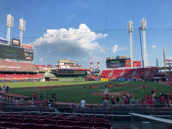 Great American Ball Park, section: 121, row: T, seat: 1