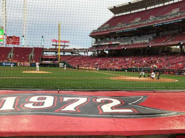 Great American Ball Park, section: 117, row: G, seat: 1