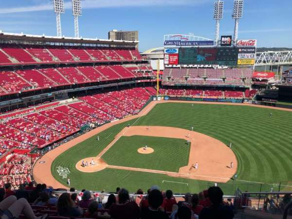 Great American Ball Park, section: 530, row: F, seat: 8