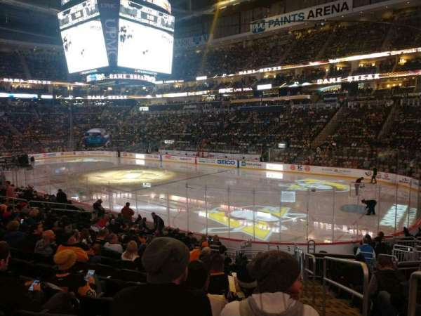 PPG Paints Arena, section: 110, row: R, seat: 1